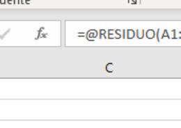 Formulas Excel arrojan el simbolo @