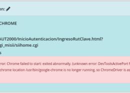 error: DevToolsActivePort file doesn't exist