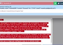 Error en Forward de email Outlook