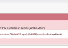 Error de permisos en Excel usando Mac