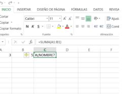 Error formula en Excel